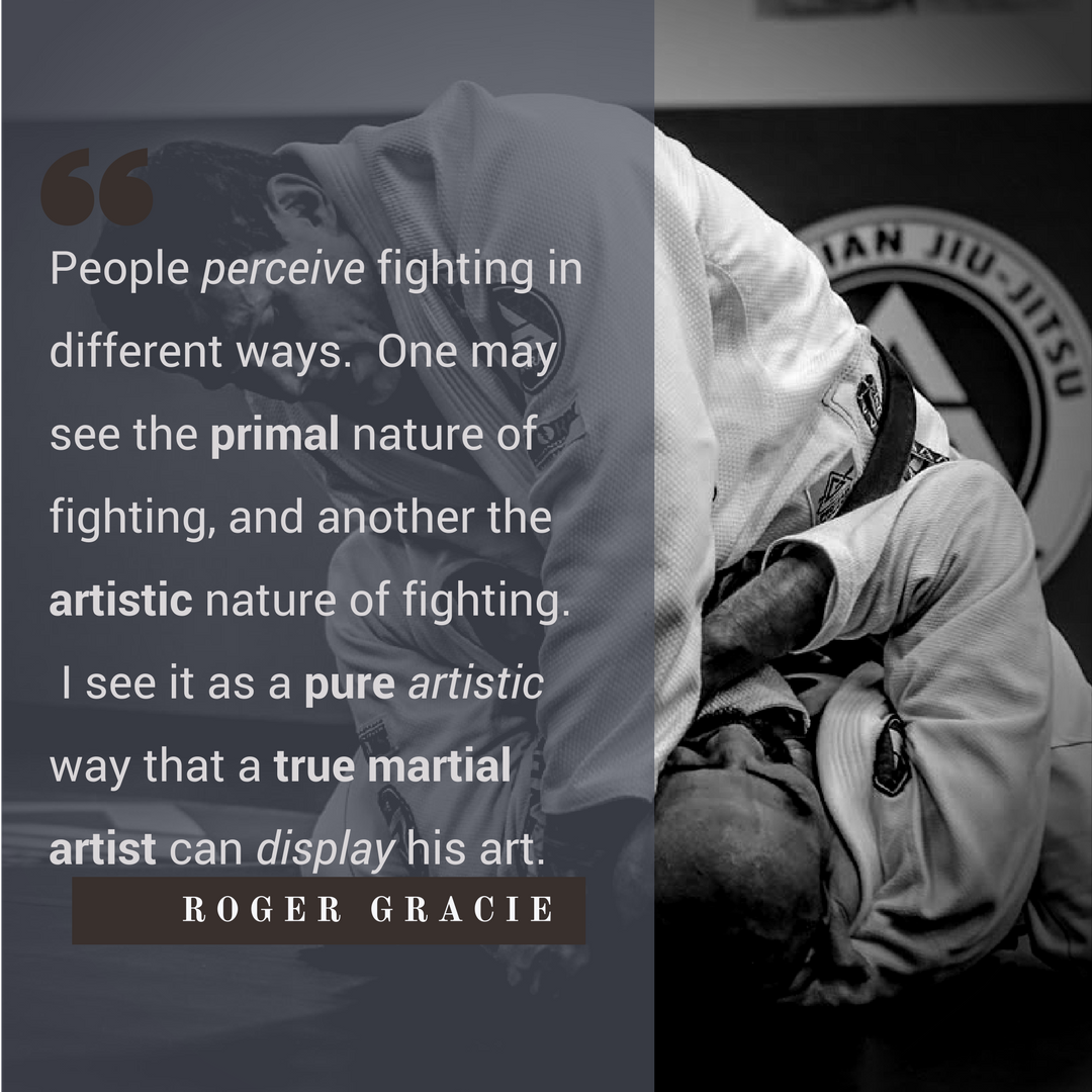 Roger Gracie Quote on Fighting